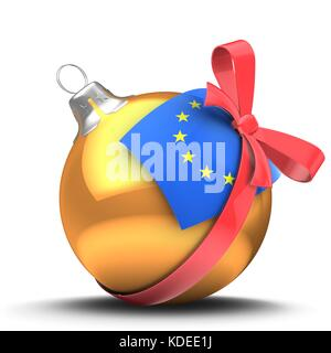 3d illustration of Christmas ball - Stock Photo