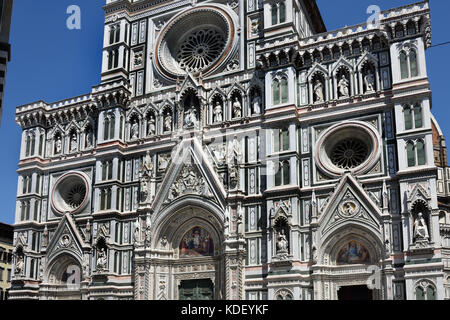 The Cattedrale di Santa Maria del Fiore  - Cathedral of Saint Mary of the Flower 336 Florence Italy Il Duomo di - Stock Photo