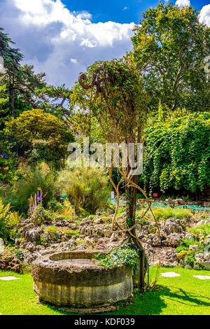 The hidden Alpine Garden in the Jardin des plantes in Paris, France