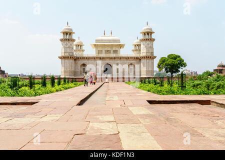 Tomb of Itimad-ud-Daulah (baby Taj Mahal) in Agra, India - Stock Photo