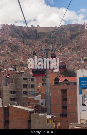 La Paz–El Alto Cable Car, Bolivia - Stock Photo