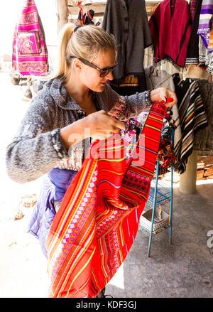 Shopping in Witches' Market, La Paz, Bolivia - Stock Photo