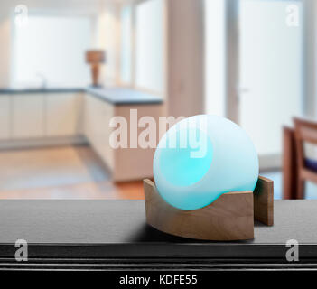 Colored air freshener in glass container in Cosi modern kitchen - Stock Photo