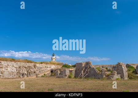 Castle of Ayia Mavra at Lefkada island, Greece - Stock Photo