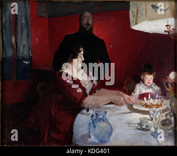 John Singer Sargent   The Birthday Party   Google Art Project - Stock Photo