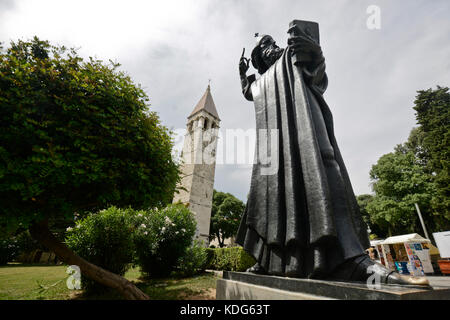 Statue of Gregory of Nin, by Ivan Mestrovic, Split, Croatia - Stock Photo