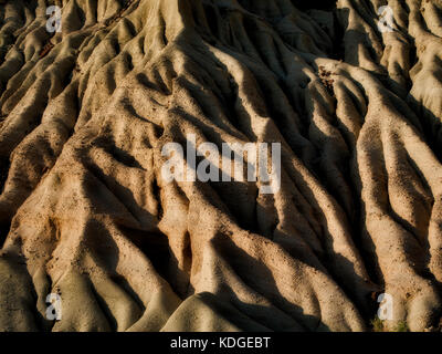 Erosion patterns in Red Rock Canyon State Park, California - Stock Photo