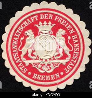 Siegelmarke Staatsanwaltschaft der Freien Hansestadt   Bremen W0232376 - Stock Photo