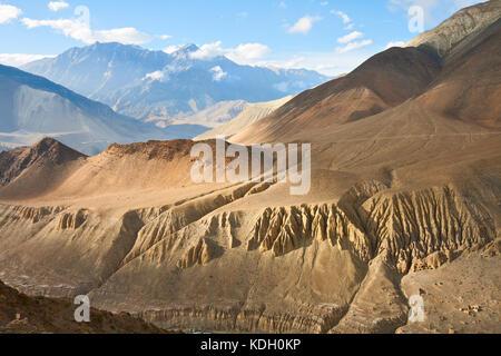 Upper Mustang landscape, Annapurna conservation area, Nepal - Stock Photo