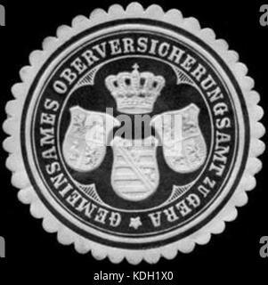 Siegelmarke Gemeinsames Oberversicherungsamt zu Gera W0255869 - Stock Photo