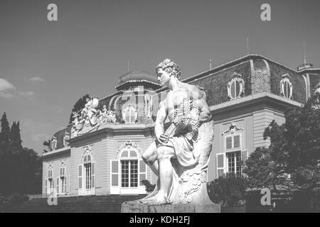 A sculpture in the gardens of Schloss Benrath, Düsseldorf, Germany - Stock Photo