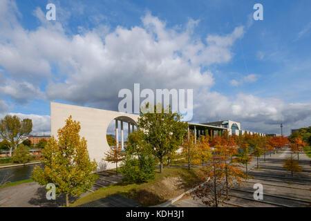 Bundeskanzleramt ( german chancellery),  government district during autumn  in Berlin - Stock Photo