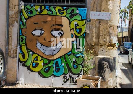 The Cyprus's murales - Stock Photo