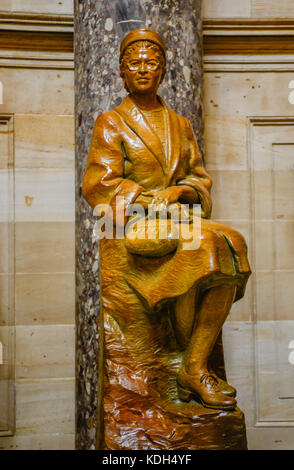 Rosa Parks statue inside the National Statuary Hall in the US Capitol building in Washington, DC, USA - Stock Photo