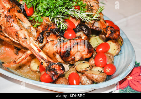 December 24 2016- Baked Turkey for Christmas Eve. from Filipino family at Vancouver, BC Canada - Stock Photo