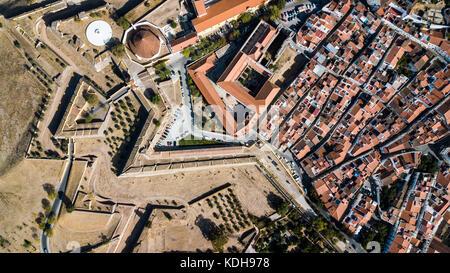 The Equina Gate, Castle of Elvas, Alentejo, Portugal - Stock Photo
