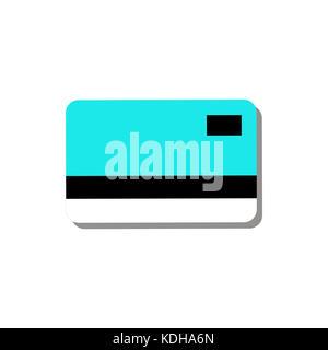 Credit Debit Card Simple Graphic Illustration - Stock Photo