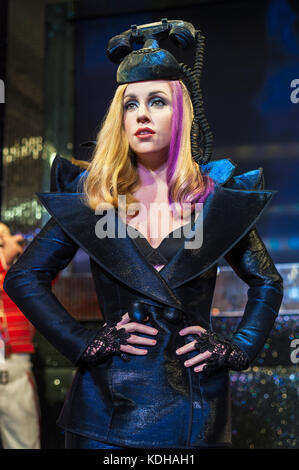 Lady Gaga wax figure in Madame Tussaud's museum in London - Stock Photo