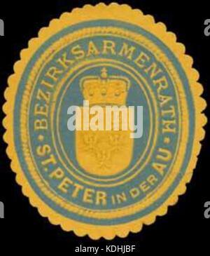 Siegelmarke Bezirksarmenrath St. Peter in der Au W0320931 - Stock Photo