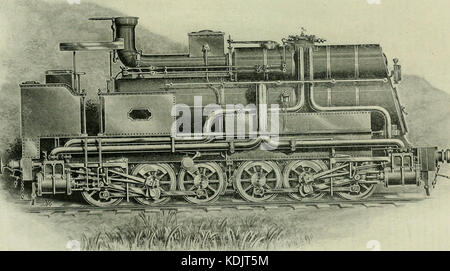 Locomotive engineering   a practical journal of railway motive power and rolling stock (1898) (14780959813) - Stock Photo