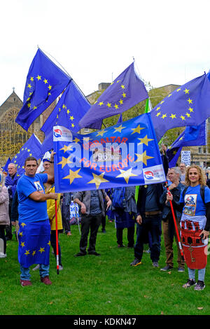 Bristol, UK. 14th October, 2017. Anti-Brexit campaigners attend a rally on College Green in the city centre. The - Stock Photo