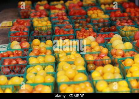 Cherry tomatoes in a farmers market.