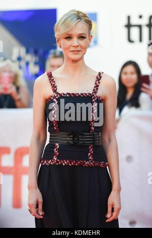 42nd Toronto International Film Festival - 'Mudbound' - Premiere  Featuring: Carey Mulligan Where: Toronto, Canada - Stock Photo