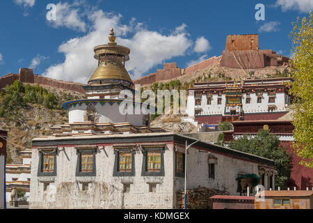Palcho Monastery, Gyantse, Tibet, China - Stock Photo