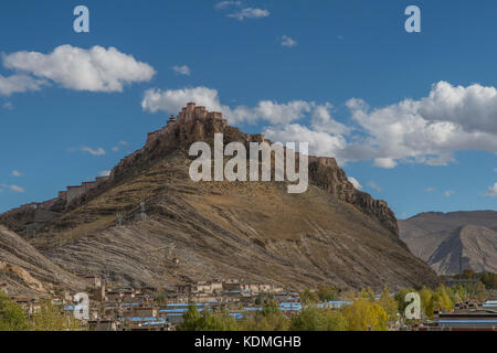Dzong Fortress, Gyantse, Tibet, China - Stock Photo