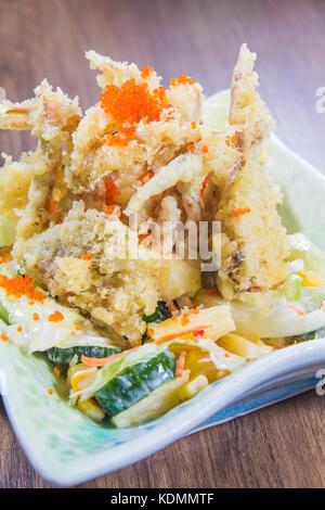 deep fried fish - Stock Photo