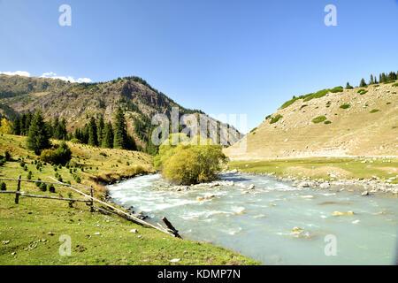 Issyk-Kul Region, Karakichi, Lake Sonkel, Kyrgyzstan - Stock Photo