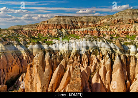 Red Valley or Rose Valley, part of the Goreme National Park, Cappadocia, Turkey. - Stock Photo