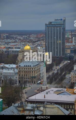Blick auf die Altstadt von Riga (Lettland) - Stock Photo