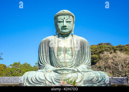 Daibutsu the great buddha at kotokuin temple in Kamakura, Kanagawa Prefecture, Japan. - Stock Photo