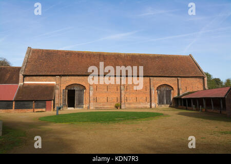 The tithe barn in Old Basing village, Hampshire, UK - Stock Photo