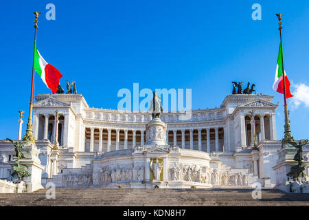 The Altar of the Fatherland landmark in Rome, Italy. - Stock Photo