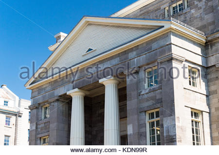 Bonsecours Market building exterior. It is located in Old Montreal which is a Unesco World Heritage Site, the building - Stock Photo