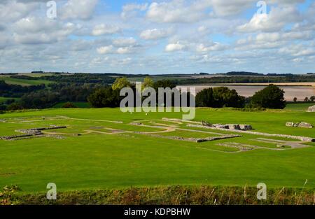 Abbey ruins at Old Sarum, Salisbury, Wiltshire, England, UK. - Stock Photo