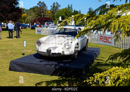An Alfa Romeo SZ1 Coda Tronca, aluminium-bodied prototype, based on an Alfa Giulietta, at the Wilton Classic & Supercar - Stock Photo