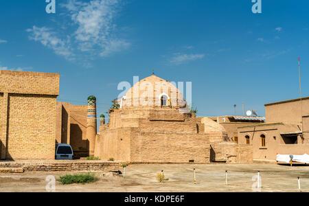 Sayid Allauddin Mausoleum at Itchan Kala, the walled inner town of the city of Khiva, Uzbekistan - Stock Photo