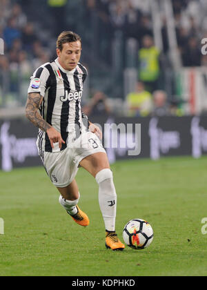 Turin, Italy. 14th October, 2017. October 14, 2017 in Turin - Allianz Stadium Soccer match Juventus F.C. vs S.S. - Stock Photo