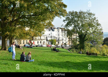 Clifton, Bristol. 15th Oct, 2017. UK Weather. Lovely Autumn afternoon in Clifton Village by the World Famous Clifton - Stock Photo