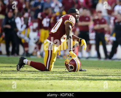 Landover, MD, USA. 15th Oct, 2017. Washington Redskins WR #80 Jamison Crowder during a NFL football game between - Stock Photo