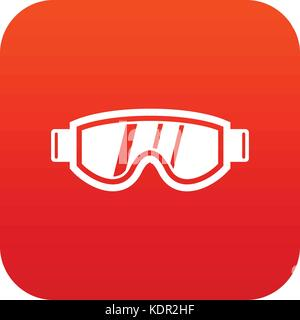 Skiing mask icon digital red - Stock Photo