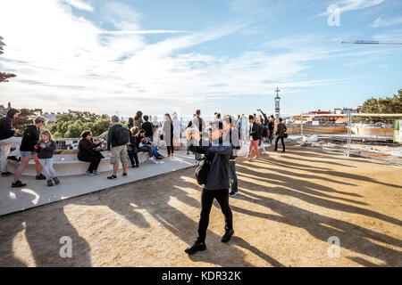 Park Guell in Barcelona - Stock Photo
