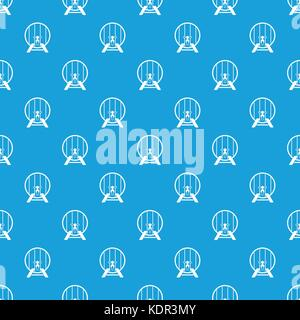 Beer barrel in pub pattern seamless blue - Stock Photo