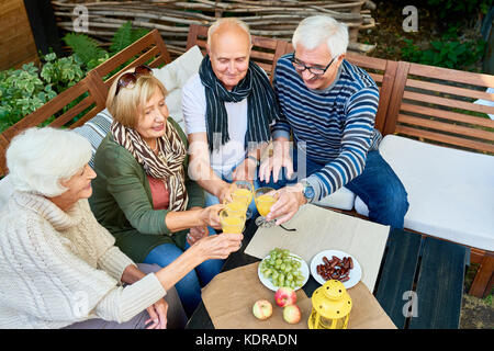Friends Meeting in Retirement - Stock Photo