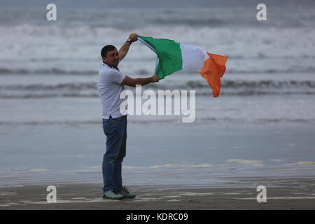 Day at the beach in Ireland - Stock Photo