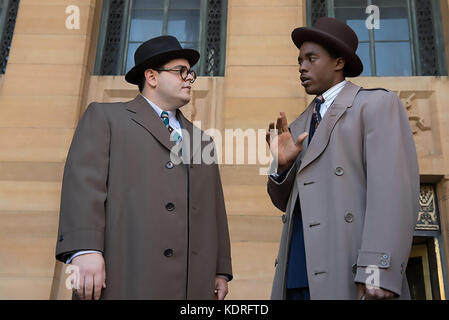 MARSHALL 2017 Chestnut Ridge Productions film with Josh Gad at left and Chadwick Boseman - Stock Photo