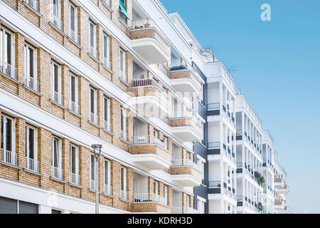 residential building facade - modern apartment buildings - Stock Photo